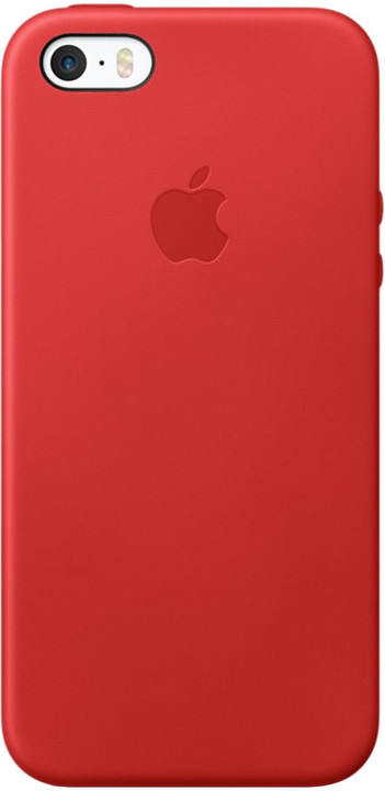 Apple iPhone SE Leather Case, červená