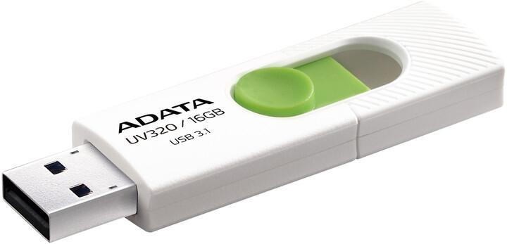 ADATA UV320 16GB bílá/zelená