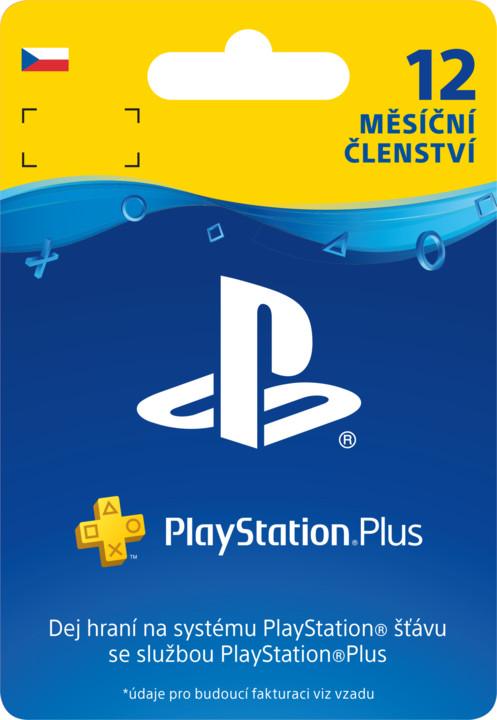 PlayStation Plus 12-měsíční členství - elektronicky