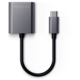 Satechi audio adaptér USB-C - 3.5mm jack + USB-C PD, 89W, šedá