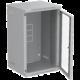 Solarix 9U, RAL 7035, skleněné dveře