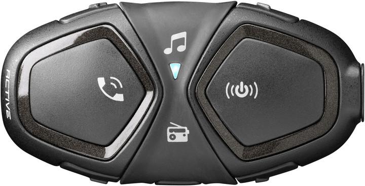 CellularLine Bluetooth handsfree pro uzavřené a otevřené přilby Interphone ACTIVE, Single Pack
