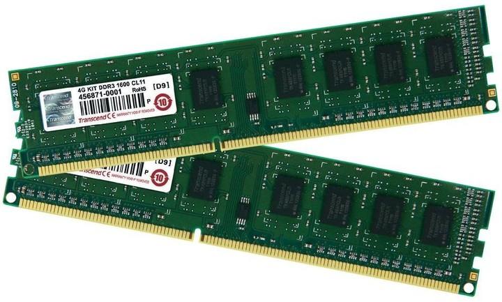 Transcend JetRam 4GB (2x2GB) DDR3 1600