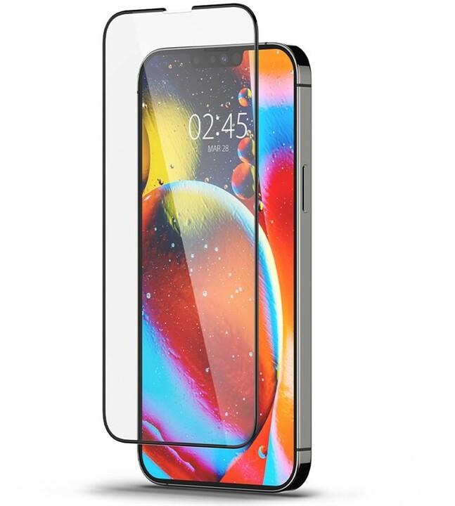 Spigen ochranné sklo tR Slim HD pro Apple iPhone 13 Pro Max, černá