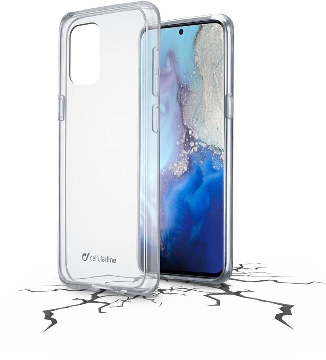 Cellularline zadní kryt s ochranným rámečkem CLEAR DUO pro Samsung Galaxy S20, čirá