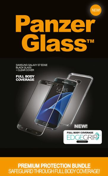 PanzerGlass Premium pro Samsung Galaxy S7 Edge černé + pouzdro
