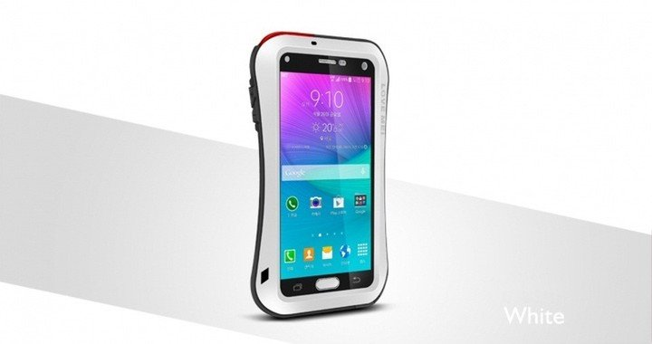 Love Mei Case pouzdro Small Waist Upgrade Version for GALAXY NOTE4 White