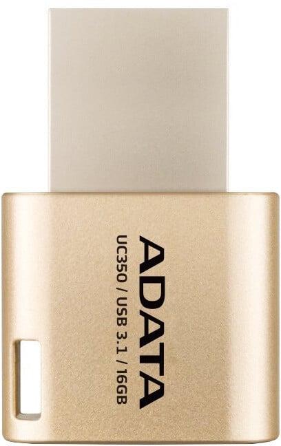ADATA UC350 - 16GB USB 3.1/USB-C, zlatá