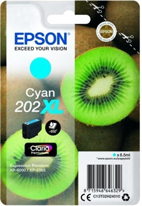 Epson C13T02H24010, 202XL claria cyan