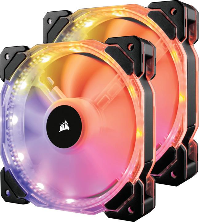 Corsair Air HD140 RGB LED High, 140mm, PWM with Controller, 2ks