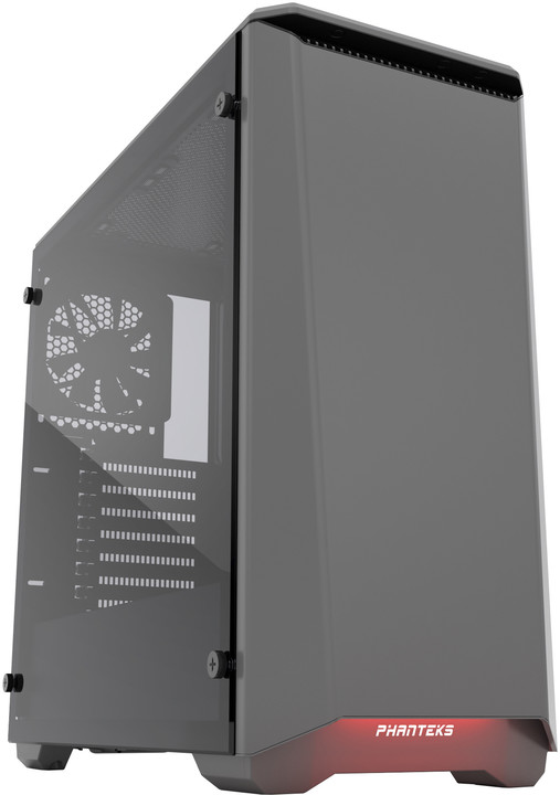 PHANTEKS Eclipse P400, Tempered Glass, antracitová