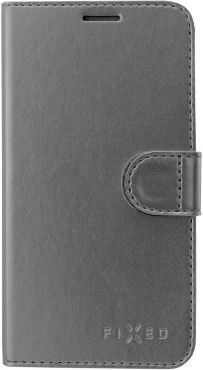 FIXED FIT Pouzdro typu kniha Shine pro Samsung Galaxy J6, antracitová