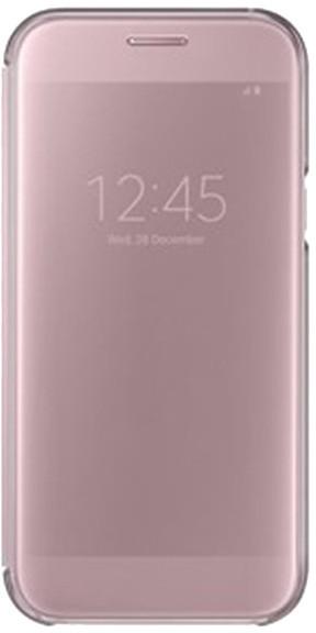 Samsung Galaxy A5 2017 (SM-A520C), flipové pouzdro, Clear View, růžové