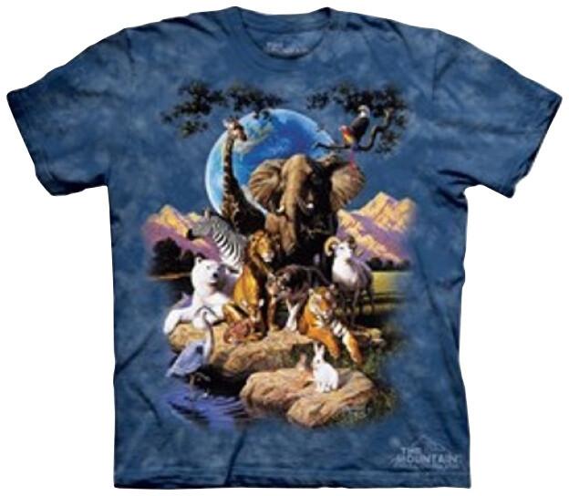 Tričko The Mountain World of Animals, dětské (S)
