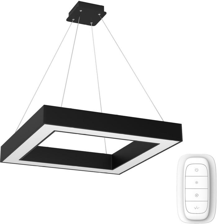 IMMAX NEO CANTO Smart závěsné svítidlo 80x80cm 60W, černá
