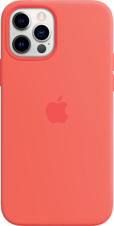 Apple silikonový kryt s MagSafe pro iPhone 12/12 Pro, růžová