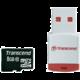 Transcend Micro SDHC 8GB Class 10 + USB čtečka