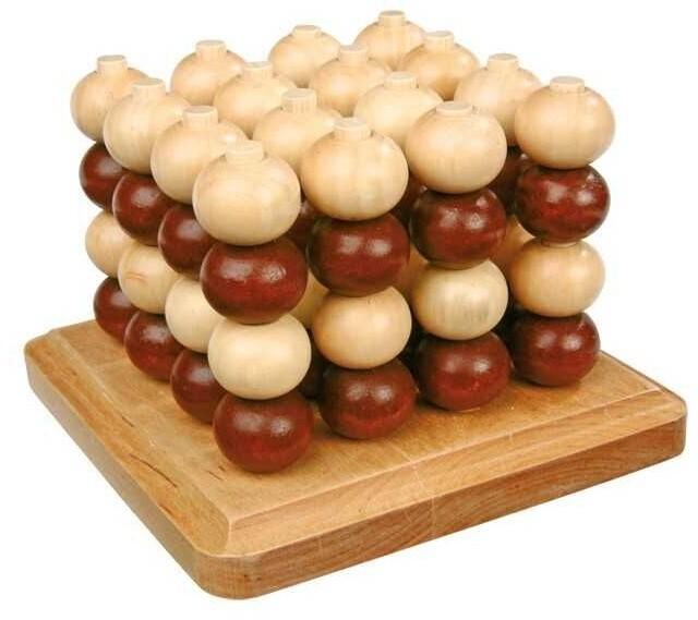 Desková hra Small Foot Piškvorky, 3D, dřevěné