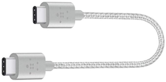 Belkin MIXIT kabel USB-C to USB-C, stříbrný