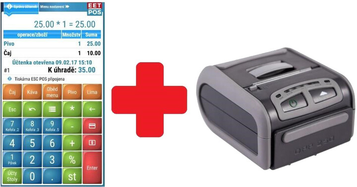 WINTEC EET-POS + DATECS DDP-250, Android