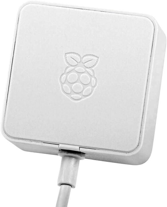 Raspberry Pi Napájecí adaptér RB-Netzteil4-W - 3A, pro Rpi 4, bílý
