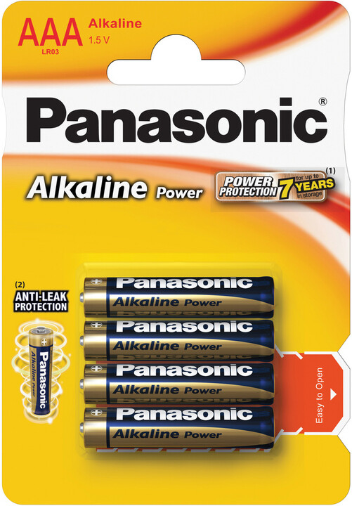 Panasonic baterie LR03 4BP AAA Alk Power alk