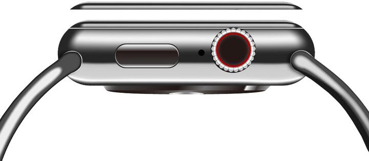 COTEetCI tvrzené sklo 4D Black-Rim pro Apple Watch, Full Glue, 40mm