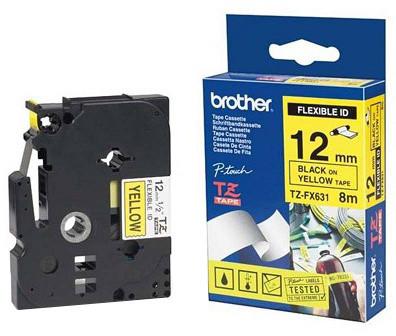 Brother TZE-FX631, žlutá / černá, 12mm