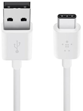 Belkin nabíjecí kabel MIXIT USB-A 2.0 na USB-C, 1,2m, bílý
