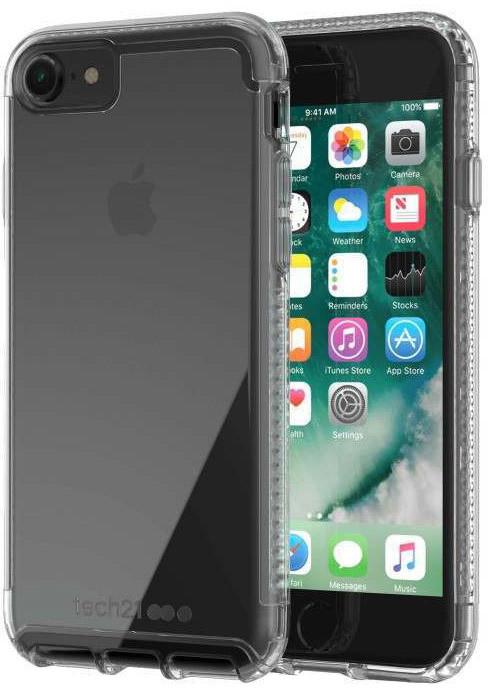 Tech21 Pure Clear Case for iPhone 7/8, čirá