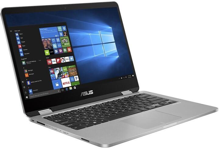 ASUS VivoBook Flip 14 TP401MA, šedá
