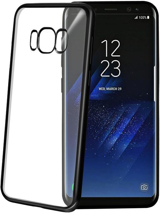 CELLY Laser - pouzdro lemování s kovovým efektem pro Samsung Galaxy S8 Plus, černé