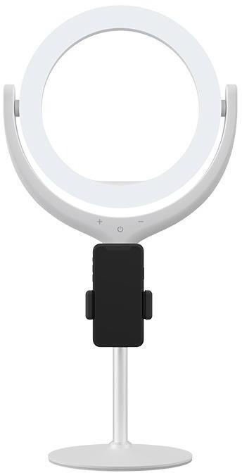 """Devia selfie stojan se světelným prstencem 8"""" (20,32 cm), univerzální, bílý"""