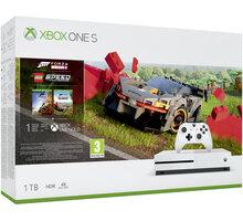 Xbox One S, 1TB, bílá + Forza Horizon 4 + LEGO Speed Champions DLC - 234-01130