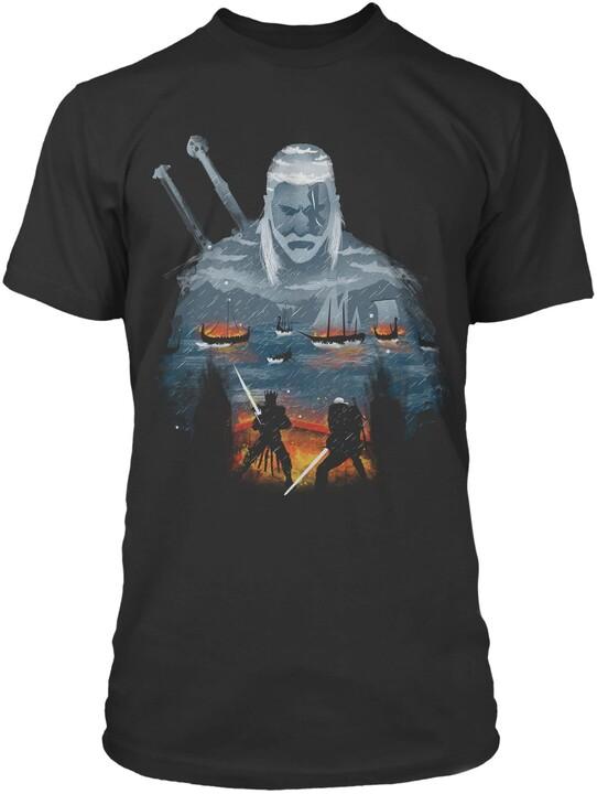 Tričko The Witcher - Geralt and Eredin (US S / EU M)