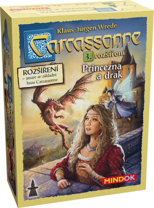 Desková hra Carcassonne rozšíření 3 - Princezna a drak