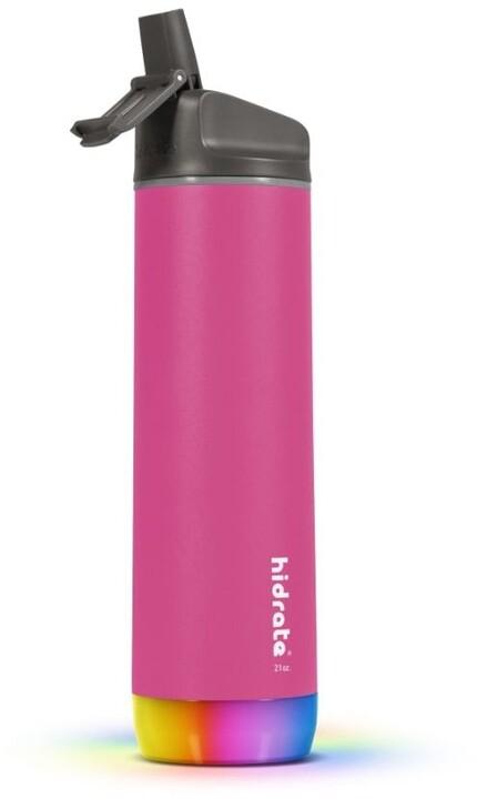 HidrateSpark Steel chytrá lahev s brčkem, 620 ml, Pink