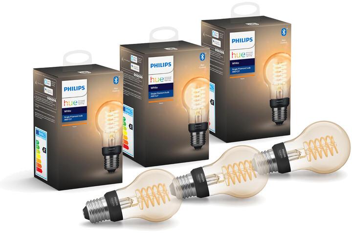Philips HUE trojbalení žárovek Filament A60