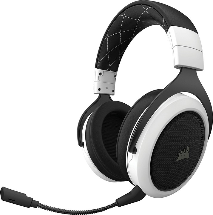 Corsair HS70 Wireless, bílá