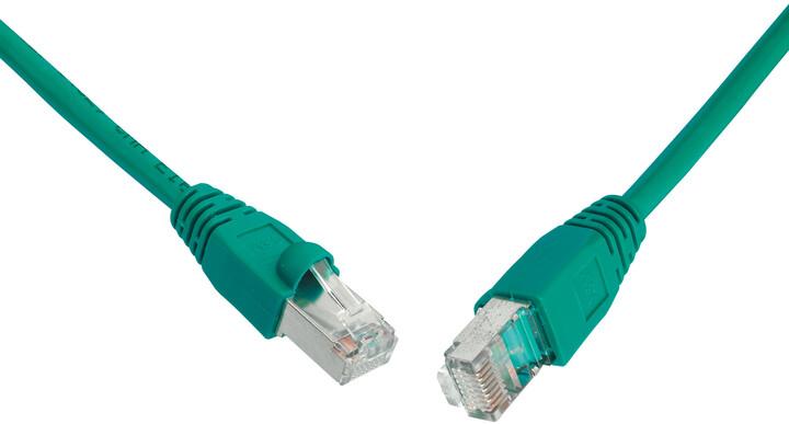 Solarix Patch kabel CAT5E SFTP PVC 2m zelený snag-proof