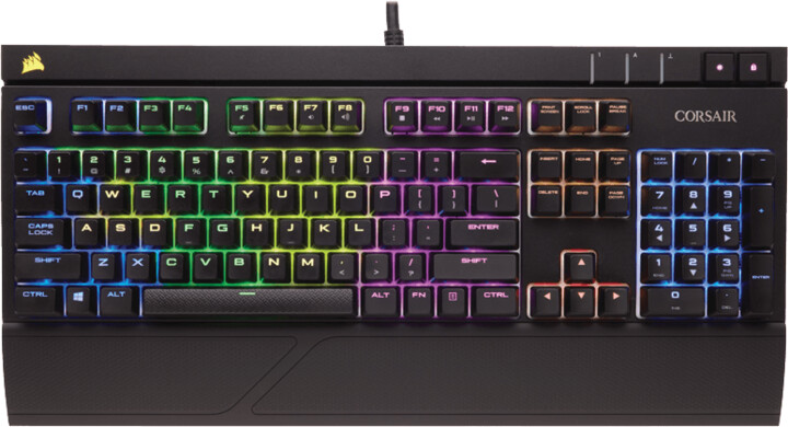 Corsair STRAFE RGB, Cherry MX Silent Red, US