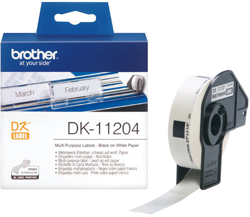 Brother - DK11204 (papírové/univerzální štítek-400 ks) 17 x 54mm