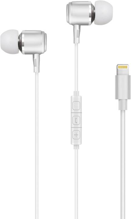 Forever stereo sluchátka pro iPhone, bílá