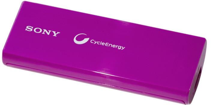 Sony CP-V3V přenosný zdroj USB, fialová, 3000mAh