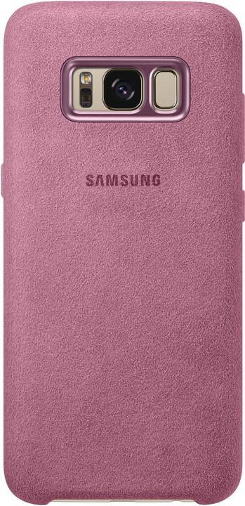 Samsung S8 Zadní kryt - kůže Alcantara, růžová