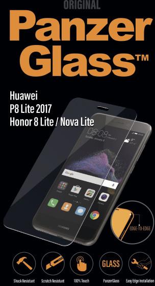 PanzerGlass Edge-to-Edge pro Huawei P8 Lite (2017), čiré