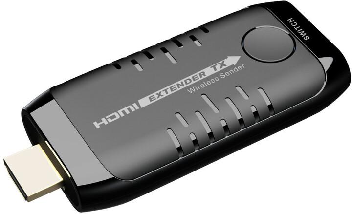 PremiumCord HDMI Wireless extender na 20m, samostatný vysílač k extenderu