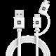 MAX MUC1101W kabel 2v1 USB/micro USB a USB Type-C, 1m, bílá