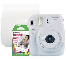 Fujifilm Instax MINI 9, bílá, big bundle