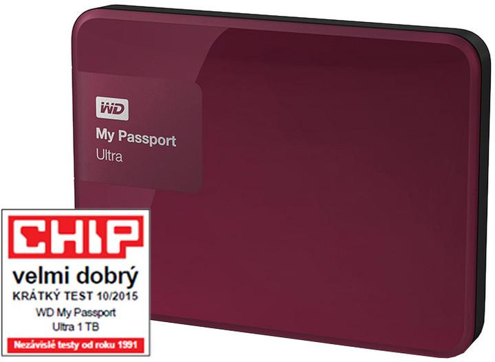 WD My Passport ULTRA - 1TB, berry